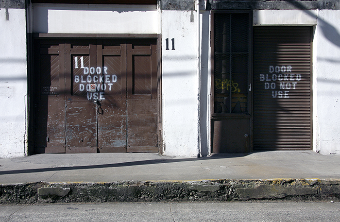 A pair of warehouse doors in Tacoma, Washington State 2011