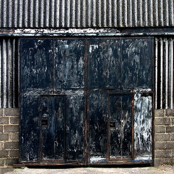 Sliding doors to a farmer's barn in the North Pennines 2015