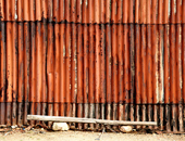 CORRUGATED IRON IN RUST AND DECAY