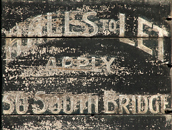SIGNWRITING  WEATHERED AND WORN